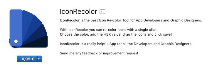 Icon Recolor su Mac App Store per macOS