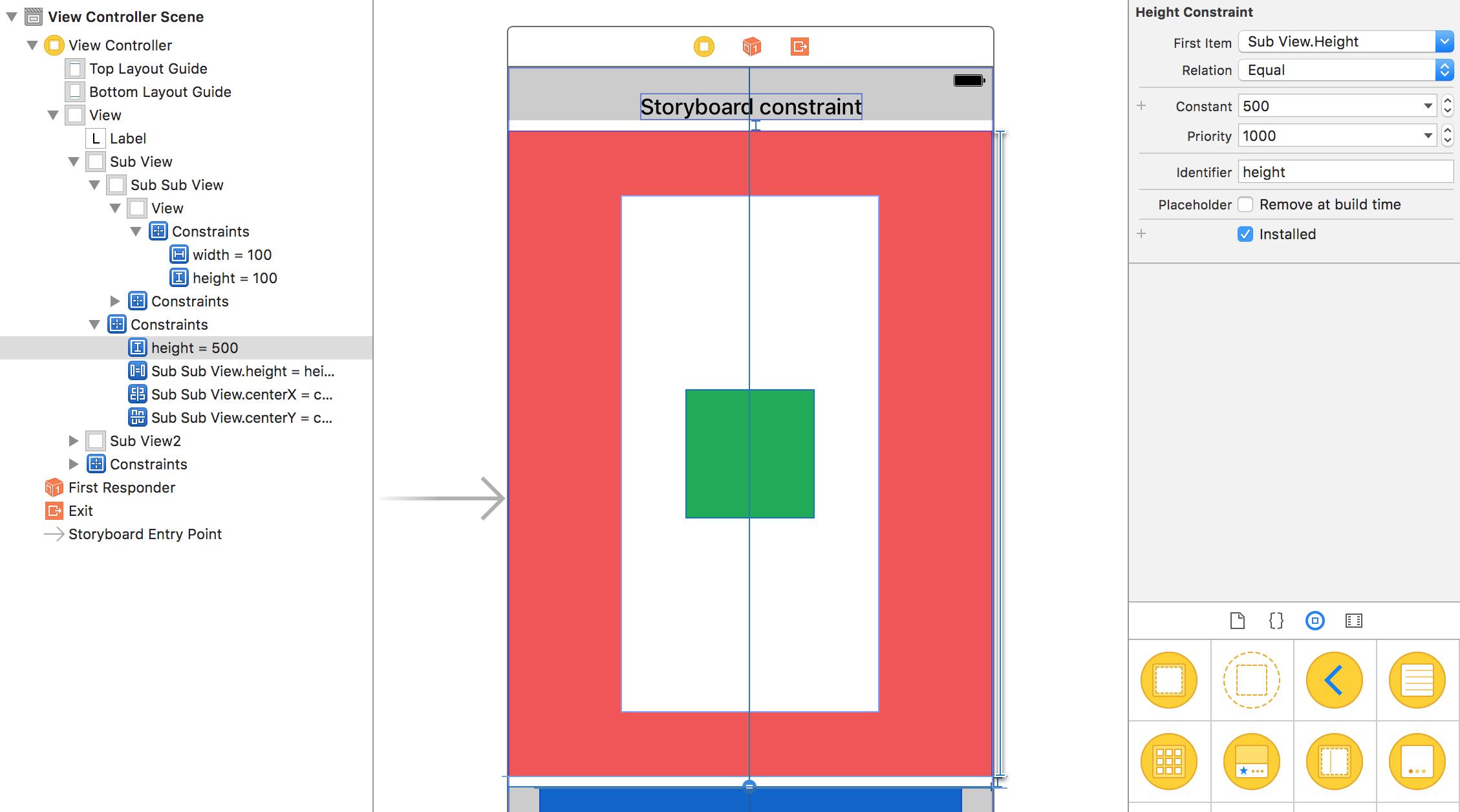 Swift - Usare i constraint creati da Storyboard via codice