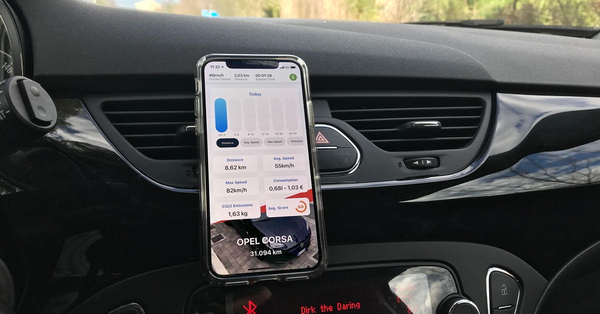 Un'app per iOS per tenere sotto controllo l'auto